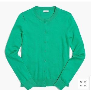 J Crew Cotton Caryn cardigan sweater